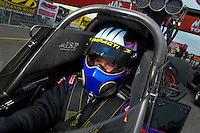 Sept. 4, 2011; Claremont, IN, USA: NHRA top fuel dragster driver Pat Dakin during qualifying for the US Nationals at Lucas Oil Raceway. Mandatory Credit: Mark J. Rebilas-