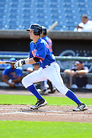Greg Deichmann (8) of Brother Martin High School in New Orleans, Louisiana playing for the New York Mets scout team during the East Coast Pro Showcase on July 31, 2013 at NBT Bank Stadium in Syracuse, New York.  (Mike Janes/Four Seam Images)