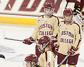 Melissa Bizzari (BC - 4), Caitlin Walsh (BC - 11) - The Boston College Eagles defeated the visiting University of Maine Black Bears 10-0 on Saturday, December 1, 2012, at Kelley Rink in Conte Forum in Chestnut Hill, Massachusetts.