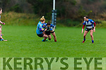 Noreen Murphy of Tralee been well tackled by Ursula Sammon of Galwegians in O'Dowd Park on Sunday