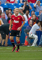 July 16, 2010 Paul Scholes No. 18 of Manchester United  during an international friendly between Manchester United and Celtic FC at the Rogers Centre in Toronto.