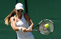 Rossana De Los Rios (PAR) against Nicole Vaidisova (CZE) in the first ropund of the ladies singles. De Los Rios beat Vadisova 6-4 6-7 6-4..Tennis - Wimbledon - Day 2 - Tues 23rd June 2009 - All England Lawn Tennis Club  - Wimbledon - London - United Kingdom..Frey Images, Barry House, 20-22 Worple Road, London, SW19 4DH.Tel - +44 20 8947 0100.Cell - +44 7843 383 012