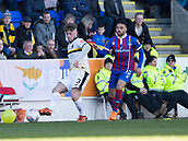 24th March 2018, McDiarmid Park, Perth, Scotland; Scottish Football Challenge Cup Final, Dumbarton versus Inverness Caledonian Thistle; Chris McLaughlin of Dumbarton and Gary Warren of Inverness Caledonian Thistle