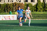 Boston, MA - Sunday May 07, 2017: Angela Salem and Abby Dahlkemper during a regular season National Women's Soccer League (NWSL) match between the Boston Breakers and the North Carolina Courage at Jordan Field.