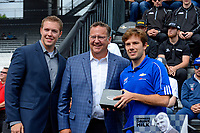 Verizon IndyCar Series<br /> Indianapolis 500 Drivers Meeting<br /> Indianapolis Motor Speedway, Indianapolis, IN USA<br /> Saturday 27 May 2017<br /> Starter's ring presentation: Carlos Munoz, A.J. Foyt Enterprises Chevrolet<br /> World Copyright: F. Peirce Williams