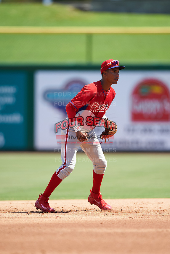 Philadelphia Phillies Jonathan Guzman (11) during an Instructional League game against the New York Yankees on September 27, 2016 at Bright House Field in Clearwater, Florida.  (Mike Janes/Four Seam Images)