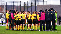 20200226 Kalmthout, BELGIUM : Belgian players being debriefed by the coaches after the international friendly soccer match between the national youth Women Under 17 teams of Belgium and the Netherlands, a friendly game in preparation for the UEFA Elite rounds in March in Belgium for the Belgian team, Wednesday 26th of February 2020 at Sportpark Heikant in Kalmthout, BELGIUM. PHOTO: SPORTPIX.BE | Sevil Oktem