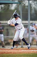 Western Connecticut Colonials shortstop EJ Lavoie (10) at bat during the first game of a doubleheader against the Edgewood College Eagles on March 13, 2017 at the Lee County Player Development Complex in Fort Myers, Florida.  Edgewood defeated Western Connecticut 3-0.  (Mike Janes/Four Seam Images)