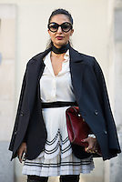 Nausheen Shah at Paris Fashion Week (Photo by Hunter Abrams/Guest of a Guest)