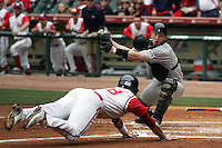 Texas Tech Red Raider catcher Jeremy Mayo against Houston on Sunday March 7th, 2100 at the Astros College Classic in Houston's Minute Maid Park.  (Photo by Andrew Woolley / Four Seam Images)