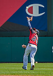 21 March 2015: Atlanta Braves infielder Kelly Johnson pulls in a fly ball during a Split Squad Spring Training game against the Washington Nationals at Champion Stadium at the ESPN Wide World of Sports Complex in Kissimmee, Florida. The Braves defeated the Nationals 5-2 in Grapefruit League play. Mandatory Credit: Ed Wolfstein Photo *** RAW (NEF) Image File Available ***