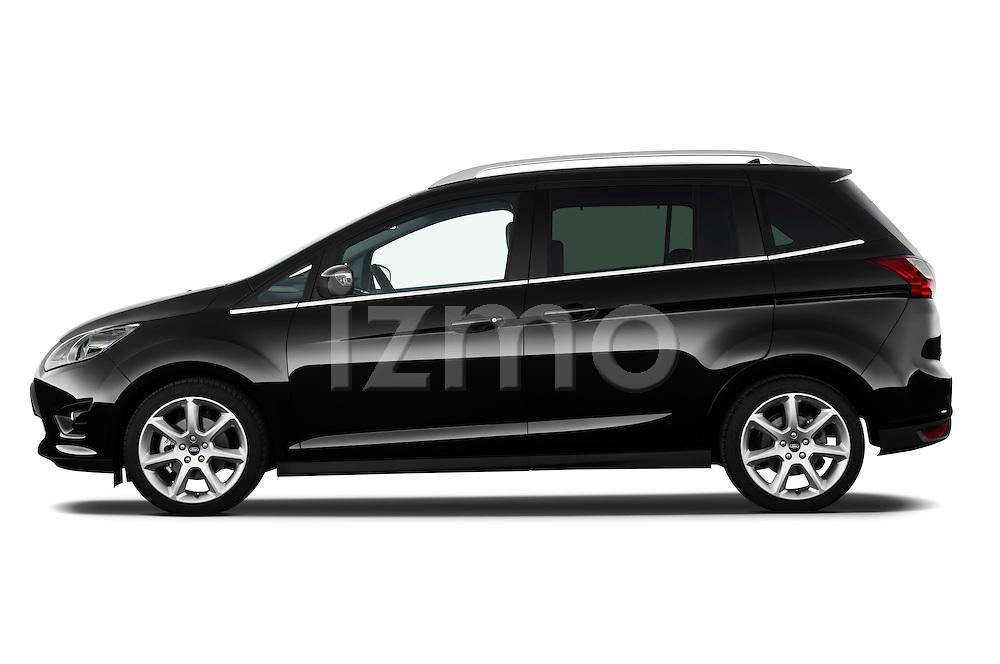 Driver side profile view of a 2011 Ford Grand C-Max Titanium Mini MPV.