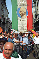 Milano, manifestazione del 25 aprile, anniversario della Liberazione dell'Italia dal nazifascismo --- Milan, manifestation of April 25, the anniversary of the Liberation of Italy from nazi-fascism