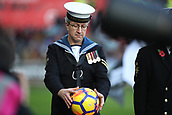4th November 2017, Liberty Stadium, Swansea, Wales; EPL Premier League football, Swansea City versus Brighton and Hove Albion; Todays match ball was delivered by members of the armed forces