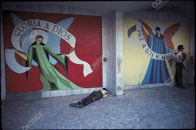 Civil war and political violence. &amp;#xD;San Salvador, El Salvador, January 1981&amp;#xD;<br />