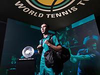 Rotterdam, The Netherlands, 14 Februari 2019, ABNAMRO World Tennis Tournament, Ahoy, Mikhail Kukushkin (KAZ),<br /> Photo: www.tennisimages.com/Henk Koster