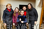 Sheila, Orla, Aoife, Sean and Ellen Quinn from Ventry and Ballyferriter attending Snow White at Siamsa Tire on Saturday night.