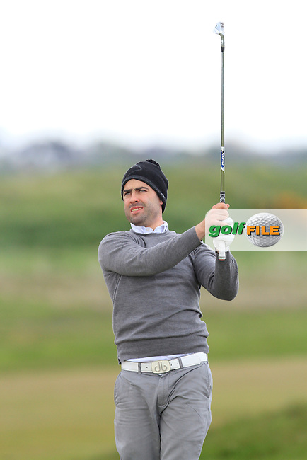 Sean Ryan (The Royal Dublin) on the 13th fairway during Round 3 of the Irish Amateur Open Championship at Royal Dublin on Saturday 9th May 2015.<br /> Picture:  Thos Caffrey / www.golffile.ie
