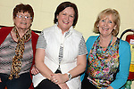 Betty Keogh, Margaret Mooney and Anne Moonan pictured at the Ceilí and set dancing weekend at An Grianan. Photo:Colin Bell/pressphotos.ie