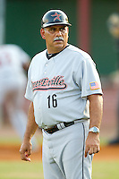 Greeneville Astros manager Ed Romero #16 at Joe O'Brien Field August 15, 2010, in Elizabethton, Tennessee.  Photo by Brian Westerholt / Four Seam Images