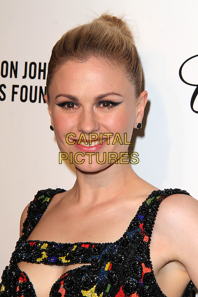 WEST HOLLYWOOD, CA - March 02: Anna Paquin at the 22nd Annual Elton John AIDS Foundation Oscar Viewing Party Arrivals, Private Location, West Hollywood,  March 02, 2014. <br /> CAP/MPI/JO<br /> &copy;JO/MPI/Capital Pictures