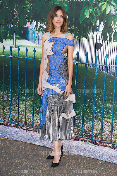 Alexa Chung at The Serpentine Gallery Summer Party 2015 at The Serpentine Gallery, London.<br /> July 2, 2015  London, UK<br /> Picture: Steve Vas / Featureflash