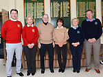 Captain PJ Campbell and Lady Captain Irene Kirwan pictured at the Captain's drive in at Seapoint golf club with visiting captains Pat Rooney and Brenda Phelan fron Laytown and Bettystown and Finbar Ronan and Ann Landy fron County Louth. Photo:Colin Bell/pressphotos.ie