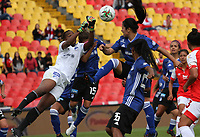 BOGOTÁ- COLOMBIA, 01-09-2019:Acción de juego entre  el Independiente Santa Fe femenino   y Millonarios femenino durante partido por los cuartos de final  de la Liga Águila  femenina  2019 jugado en el estadio Nemesio Camacho El Campín  de la ciudad de Bogotá. /Action game between teams  Independiente Santa Fe women´s and Millonarios women´s during the match for the quarter finals of the Liga Aguila II 2019 played at the Nemesio Camacho El Campin  stadium in Bogota city. Photo: VizzorImage / Felipe Caicedo / Staff
