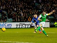 28th February 2020; Easter Road, Edinburgh, Scotland; Scottish Cup Football, Hibernian versus Inverness Caledonian Thistle; Paul Hanlon of Hibernian misses a penalty to keep the score at 0-0