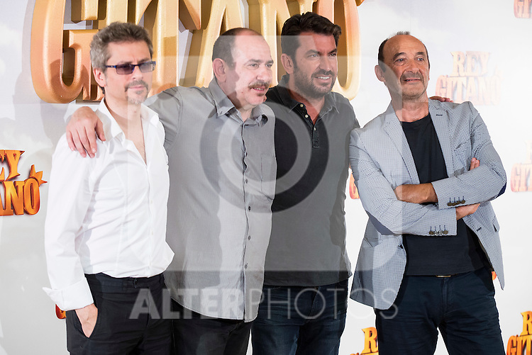 "Director Juanma Bajo Ulloa and actors Karra Elejalde, Arturo Valls and Manuel Manquiña pose during ""Rey Gitano"" film presentation at Palafox Cinemas in Madrid, Spain. July 09, 2015.<br />  (ALTERPHOTOS/BorjaB.Hojas)"