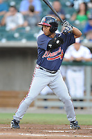 Yasser Gomez during a game against the Tennessee Smokies at Smokies Park, Kodak, TN August 19, 2010. Tennessee won the game 5-4.