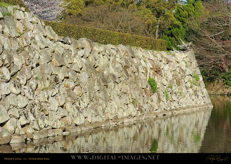 Himeji Castle outer moat wall  Shirasagi-jo White Heron Castle Himeji Japan