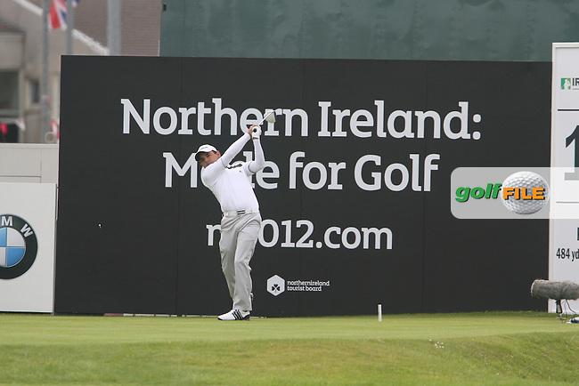 Fabrizio Zanotti (PAR) on the 18th on Day 4 of the 2012 Irish Open at Royal Portrush Golf Club, Portrush, Co.Antrim, 1/7/12...(Photo Jenny Matthews/www.golffile.ie)