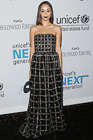 HOLLYWOOD, LOS ANGELES, CA, USA - OCTOBER 30: Cara Santana arrives at UNICEF's Next Generation's 2nd Annual UNICEF Masquerade Ball held at the Masonic Lodge at the Hollywood Forever Cemetery on October 30, 2014 in Hollywood, Los Angeles, California, United States. (Photo by Rudy Torres/Celebrity Monitor)