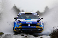 2nd February 2020; Galway, Galway, Ireland; Irish Tarmac Rally Championship, Galway International Rally; Donagh Kelly and Conor Foley (Volkswagen Polo GTI R5) finish in 3rd place overall