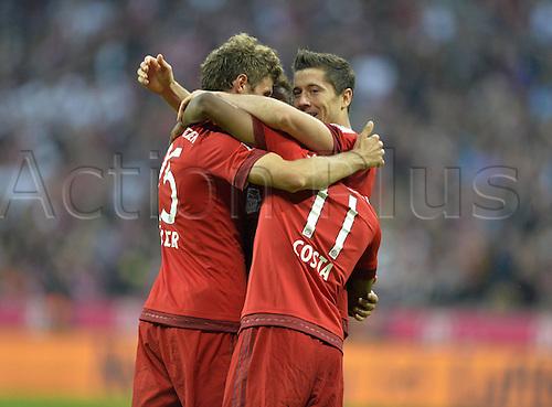 04.10.2015. Munich, Germany. Bandesliga Football. Bayern Munich versus Borussia Dortmund.  Robert Lewandowski (FC Bayern Munich)