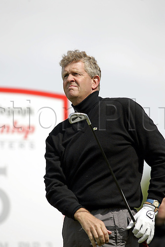 13 May 2005: Scottish golfer Colin Montgomerie looks into the distance after playing a tee shot during the second round of the The Daily Telegraph Dunlop Masters played at the Forest of Arden, Warwickshire. Photo: Neil Tingle/Actionplus..050513 golf golfer player