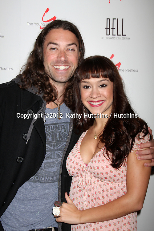 LOS ANGELES - MAR 16:  Ace Young, Diana DeGarmo arrives at the Young & Restless 39th Anniversary Party hosted by the Bell Family at the Palihouse on March 16, 2012 in West Hollywood, CA