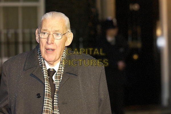DR IAN PAISLEY.Leaving Downing Street after talks with Tony Blair, London, January 11th 2005..portrait headshot.Ref: DH.www.capitalpictures.com.sales@capitalpictures.com.©David Hitchens/Capital Pictures .