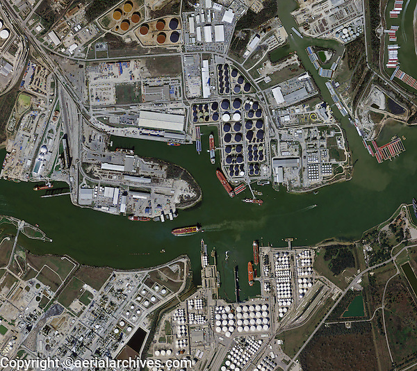 Aerial Photo Map Of The Houston Shipping Channel Port Houston - Port of houston map