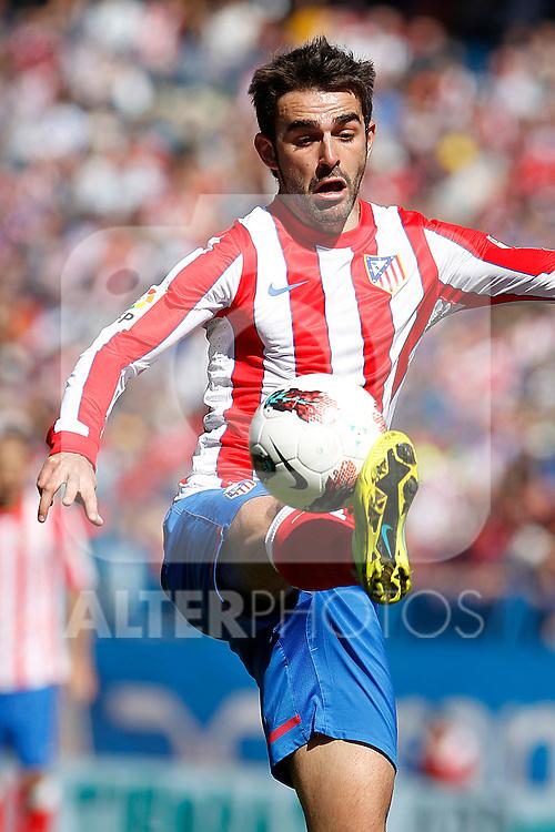 Atletico de Madrid's Adrian Lopez during La Liga match.March 11,2012. (ALTERPHOTOS/Acero)