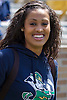 April 21, 2012:  Notre Dame basketball all-american Skylar Diggins during the Notre Dame Blue-Gold Spring game at Notre Dame Stadium in South Bend, Indiana.  The Defense topped the Offense by a score of 42-31.