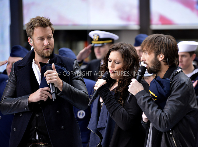 WWW.ACEPIXS.COM<br /> <br /> November 11 2013, New York City<br /> <br /> Country pop music group Lady Antebellum performed on the Today Show on November 11 2013 in New York City<br /> <br /> By Line: Curtis Means/ACE Pictures<br /> <br /> <br /> ACE Pictures, Inc.<br /> tel: 646 769 0430<br /> Email: info@acepixs.com<br /> www.acepixs.com