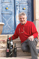 Guido Jansegers Chateau Mansenoble. In Moux. Les Corbieres. Languedoc. A door. Owner winemaker. France. Europe. Bottle.