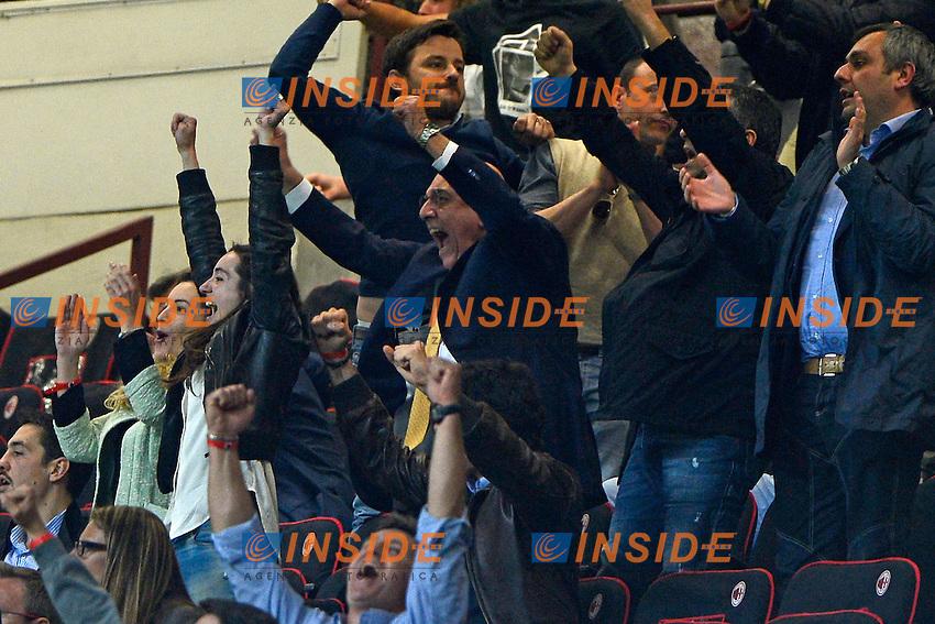 Esultanza di Adriano Galliani Milan<br /> Milano 04-05-2014 Stadio Giuseppe Meazza - Football 2013/2014 Serie A. Milan - Inter Foto Giuseppe Celeste / Insidefoto