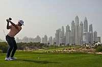 Thorbjorn Olesen (DEN) on the 8th during Round 2 of the Omega Dubai Desert Classic, Emirates Golf Club, Dubai,  United Arab Emirates. 25/01/2019<br /> Picture: Golffile | Thos Caffrey<br /> <br /> <br /> All photo usage must carry mandatory copyright credit (© Golffile | Thos Caffrey)