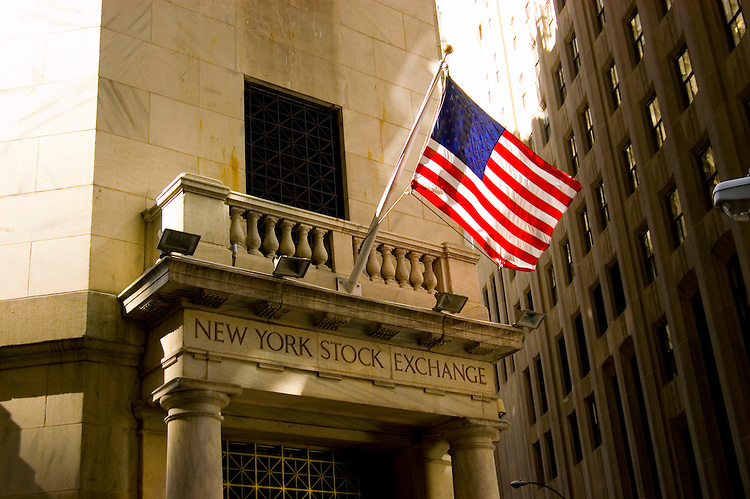 New York City, New York: New York Stock Exchange Building  .Photo #: ny237-14601  .Photo copyright Lee Foster, www.fostertravel.com, lee@fostertravel.com, 510-549-2202.