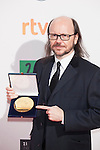 Spanish actor and director Santiago Segura poses after being awarded at the 2016 Premios Forque in Madrid, Spain. January 11, 2016. (ALTERPHOTOS/Victor Blanco)
