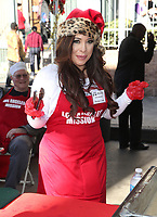 21 December 2018 - Los Angeles, California - Brooke Lewis. Los Angeles Mission Christmas Meal for the Homeless held at Los Angeles Mission. Photo Credit: F. Sadou/AdMedia