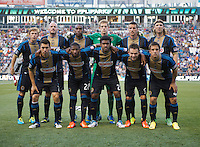 Philadelphia lines up before a Major League Soccer game at PPL Park in Chester, PA.  Philadelphia Union tied the Portland Timbers, 0-0.